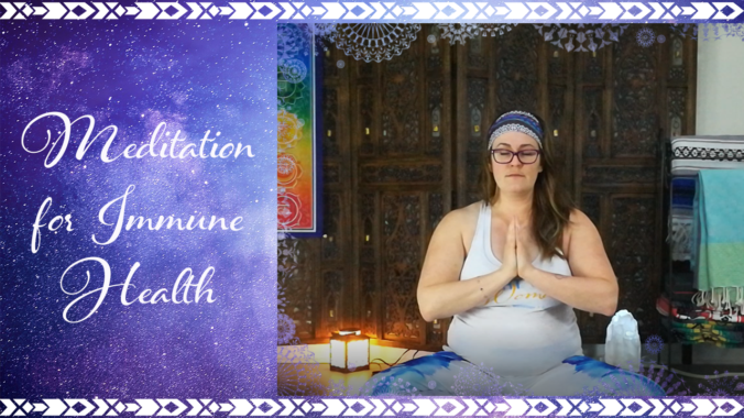 Bright Star Woman, Mercedes in meditation for immune health #MeditateWithMercedes