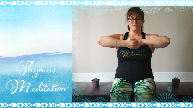 Bright Star Woman, Mercedes in kundalini yoga meditation for the thymus gland #MeditateWithMercedes