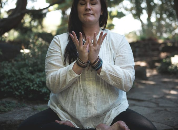 Bright Star Woman holding Padma Mudra