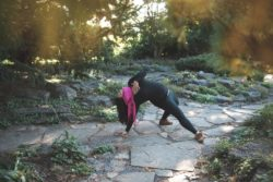 Mercedes in Wild Thing - Camatkarasana