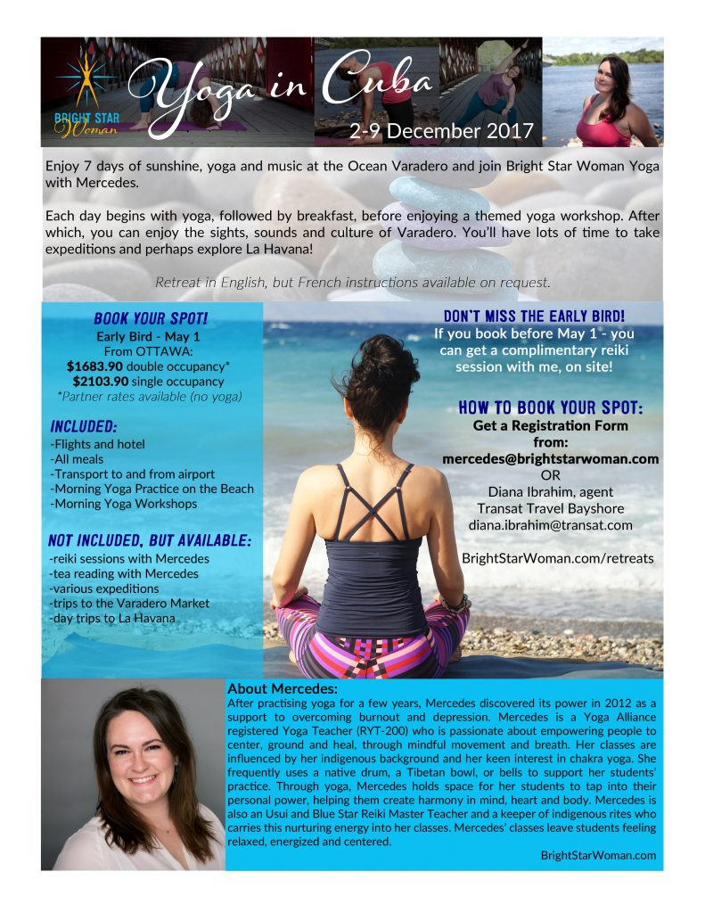 Bright Star Woman Yoga in Cuba Retreat